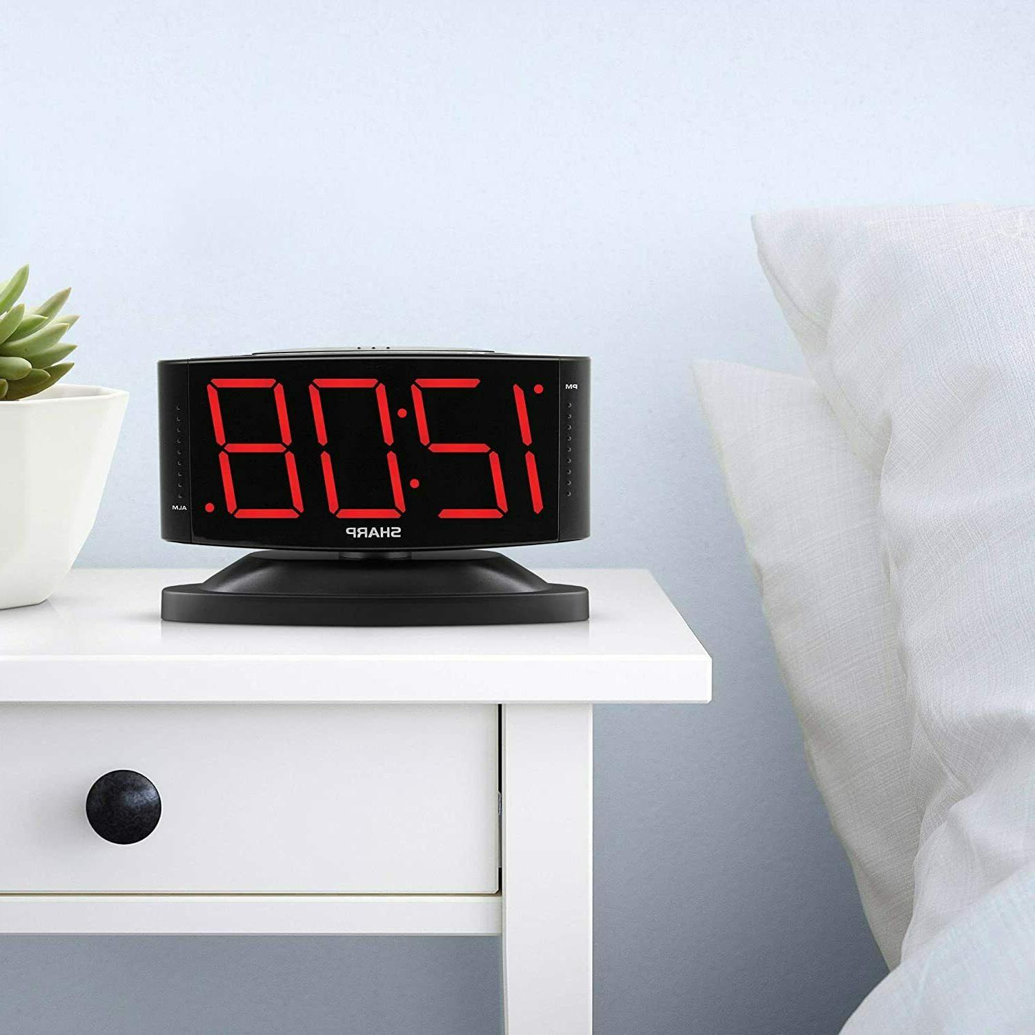 Digital Alarm Clock to Swivel Home Decoration New
