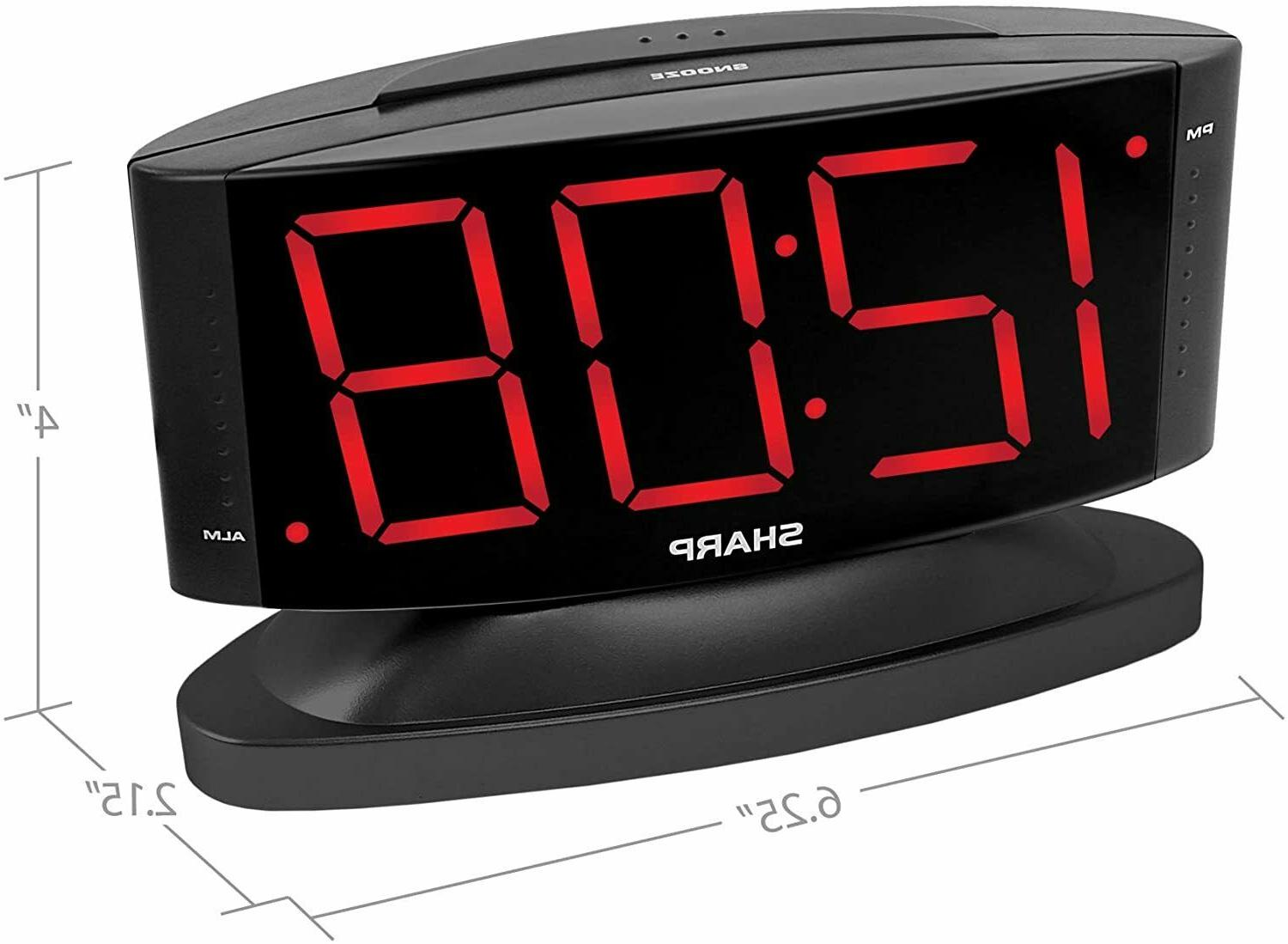 Digital Clock to Read Large Swivel Home Decoration New
