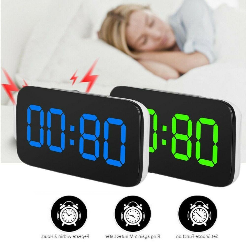 Digital Alarm Large LED USB/Battery Sound