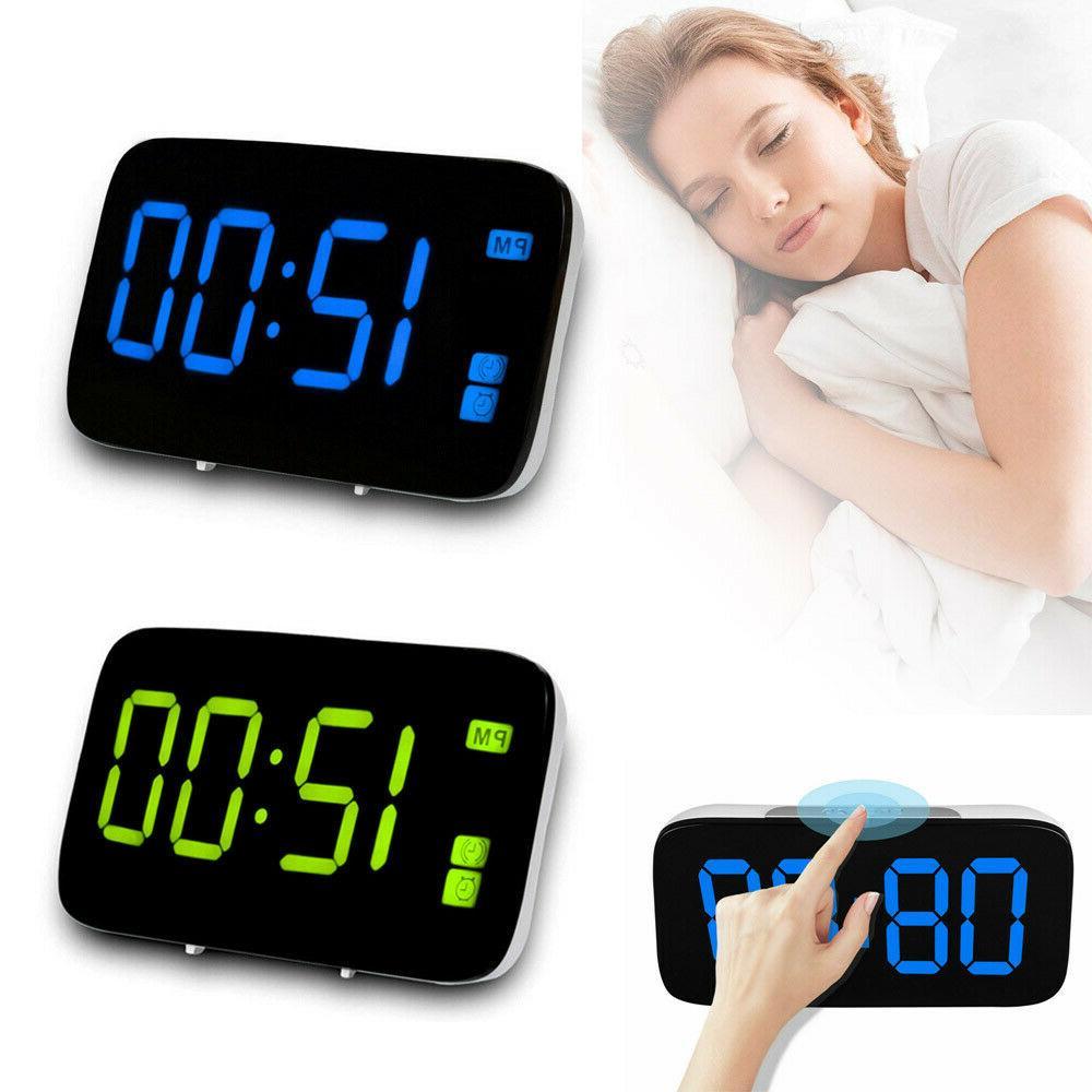 Digital Alarm LED Display Operated Sound Control Bedroom
