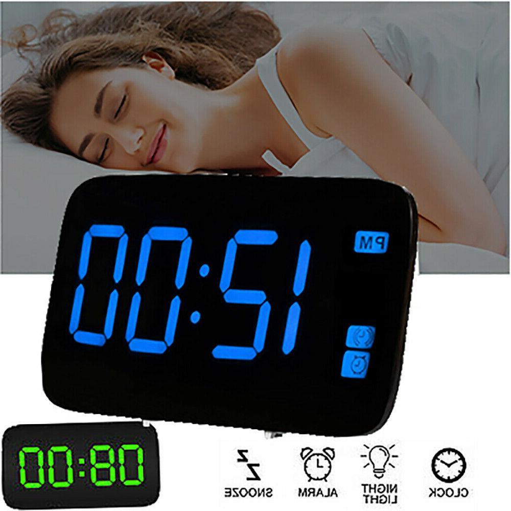 digital alarm clock large led display usb