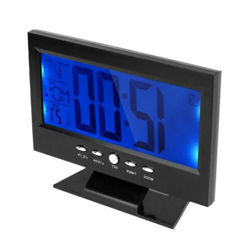 Large LED Snooze Clock Time
