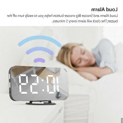 Digital Alarm Clock Display Operated Mirror