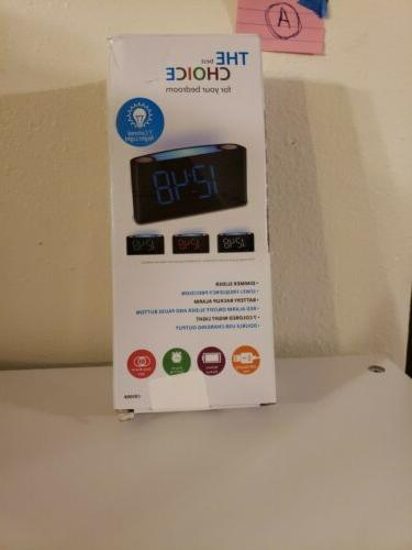Digital Bedroom Dual SNOOZE USB
