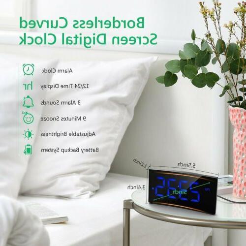 Digital Alarm Bedroom LED SNOOZE Charging Port
