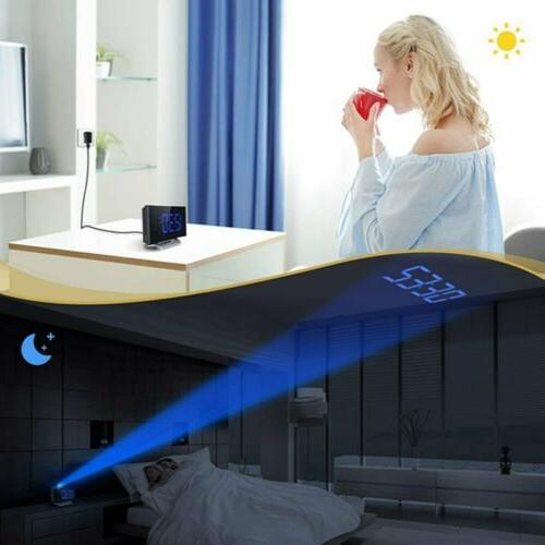 Digital Alarm Clock Bedroom LED SNOOZE Charging Port