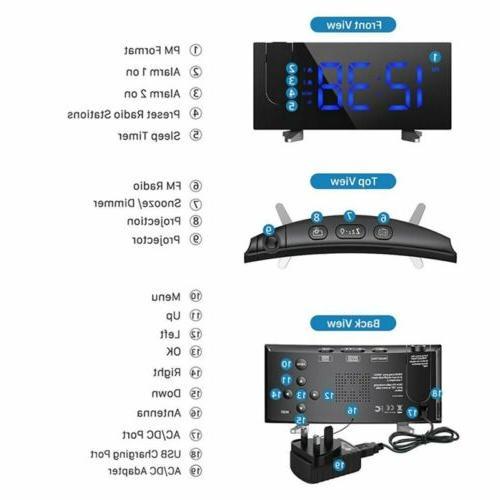 Digital Bedroom Dual Alarms SNOOZE Charging