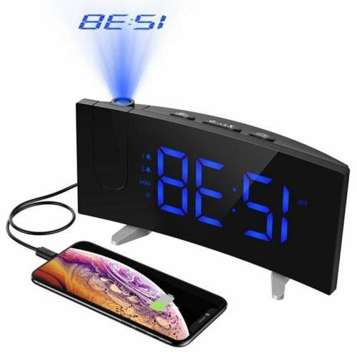 Digital Clock Bedroom LED SNOOZE USB