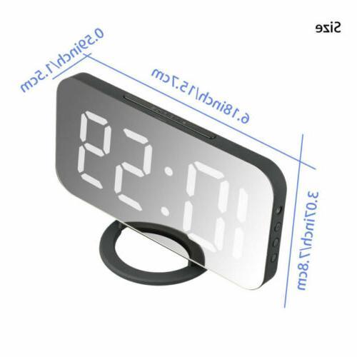 Digital Alarm LED Snooze AM USB Port