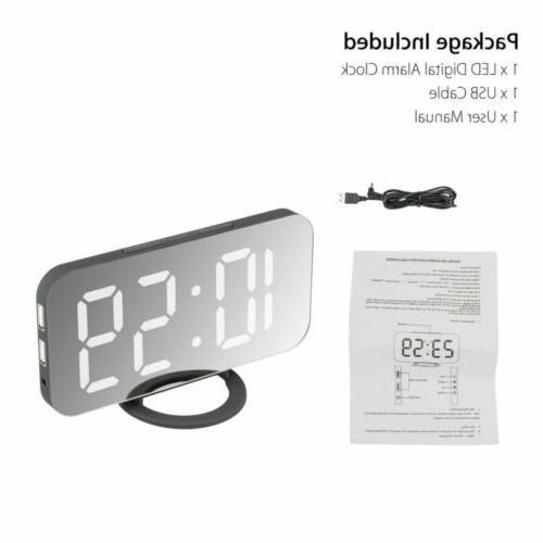 Digital Alarm LED Alarms AM USB Port