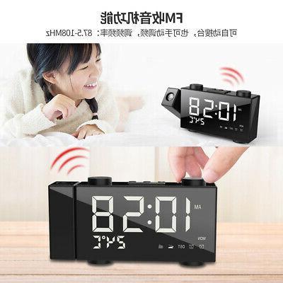 6 Inch Digital Alarm Clock Adjust Frequency Band Volume USB