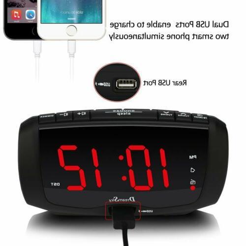 DreamSky Digital Alarm Radio Radio,1.4 Large LED