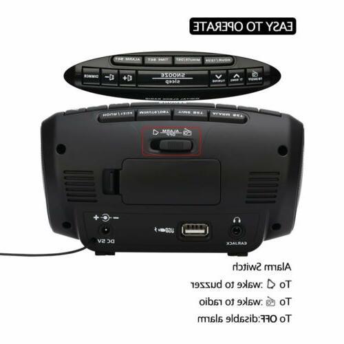 DreamSky Digital Radio with FM Dual USB Ports Charging