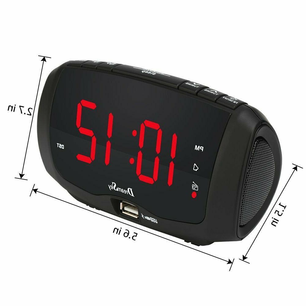 Dream Sky Digital Alarm Clock Radio, for Charging,