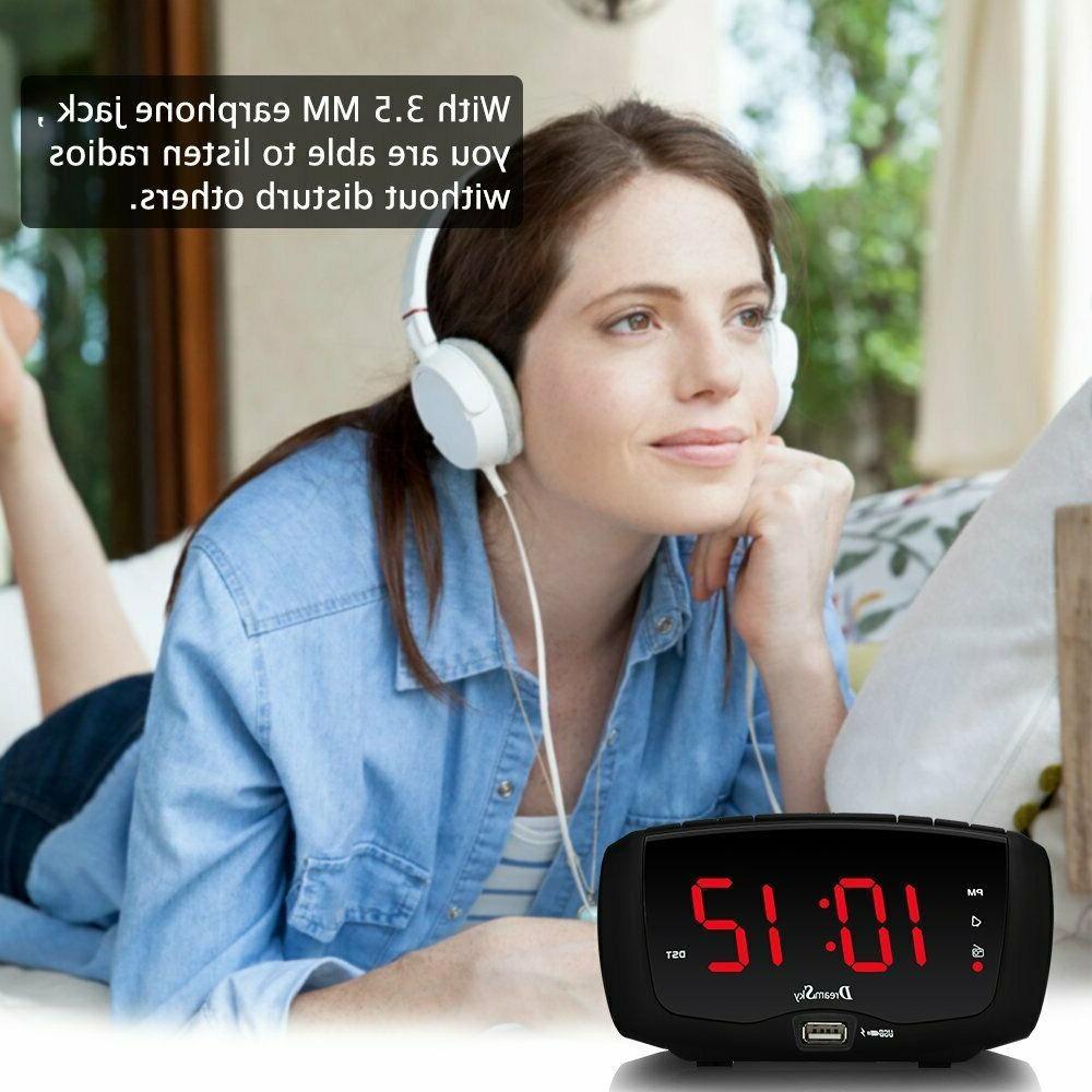Dream Sky Clock Radio Radio, Dual USB Ports for