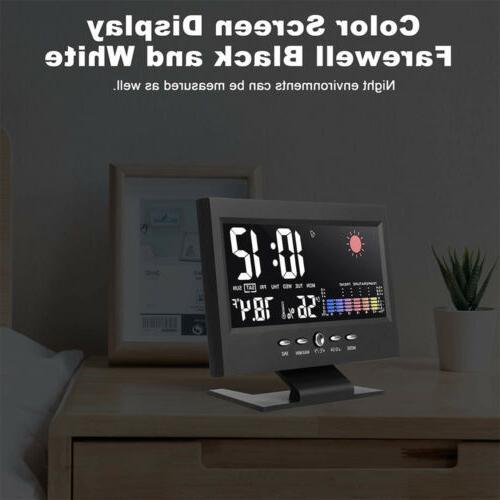 Digital Clock Calendar Display Thermometer Hygrometer