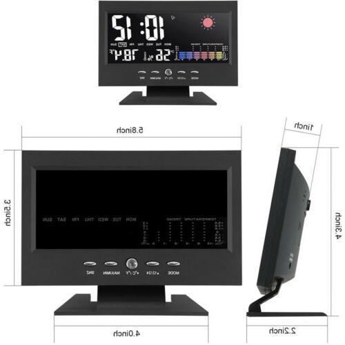 Digital Alarm Snooze Calendar LED Display Weather Thermometer