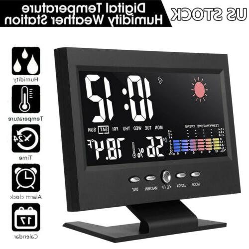 digital alarm clock snooze calendar led display