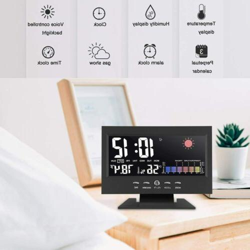 Desk Weather Thermometer Temperature Humidity Monitor