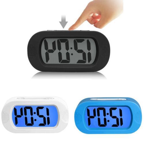Simple LED Digital Alarm Clock Time Backlight Snooze Battery