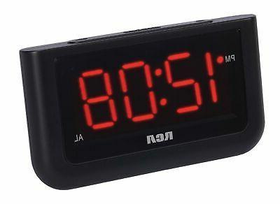 RCA Digital Alarm Clock Display  For Bedrooms  Battery Opera
