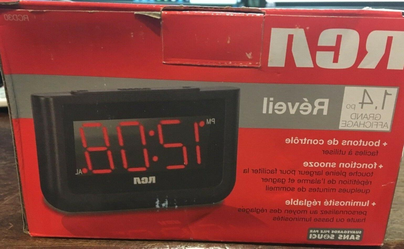RCA Digital Alarm Clock with New