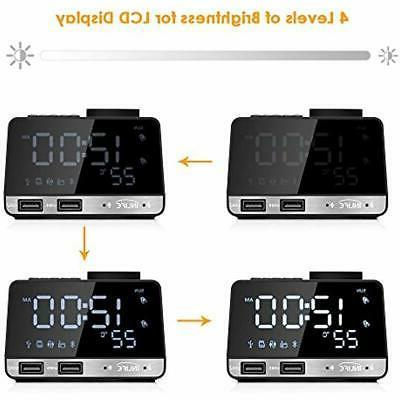 Digital Desk Clocks Alarm LED Bluetooth