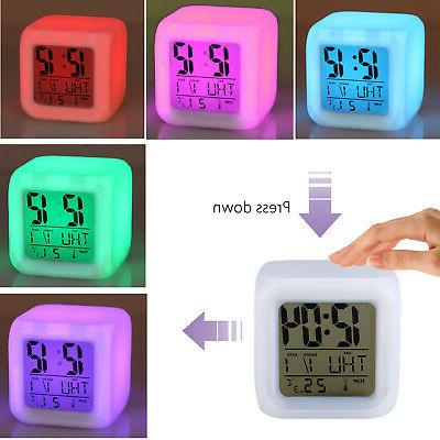 Digital LED Clock Backlight Time Thermometer Temperature