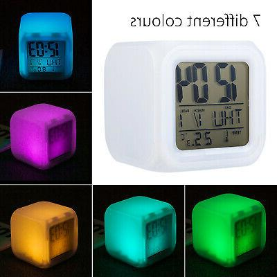 Alarm Digital Clock Thermometer Cube Time