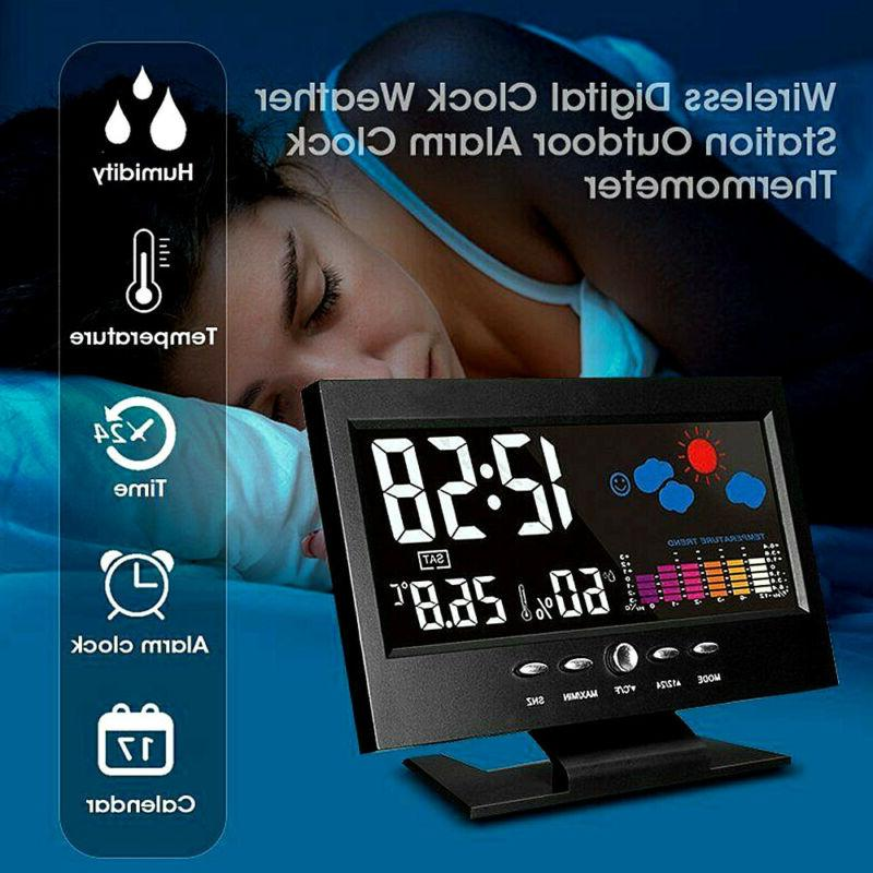 LED Alarm Calendar Thermometer Display USB