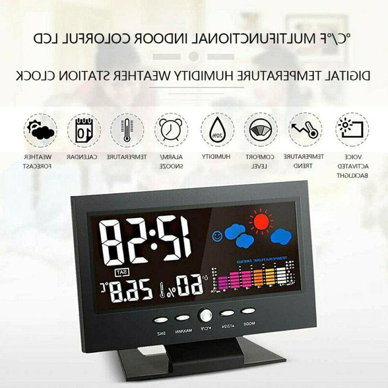 LED Alarm Calendar Thermometer Color Display