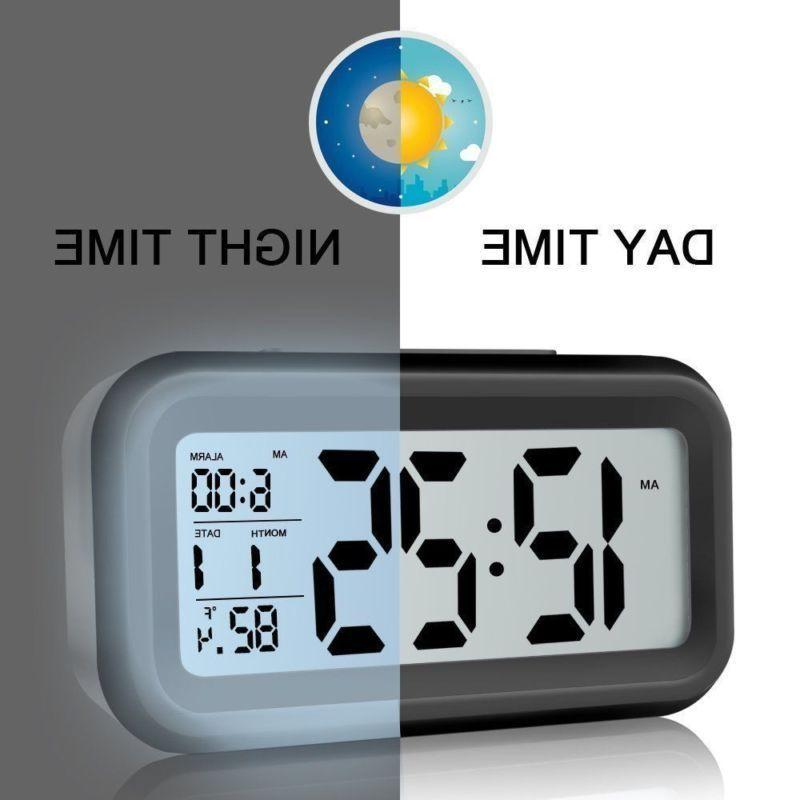 Digital LCD Snooze Electronic Alarm Clock with Backlight RF