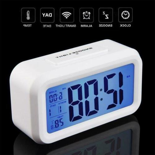 Digital Snooze Alarm Clock with Backlight Control US RF
