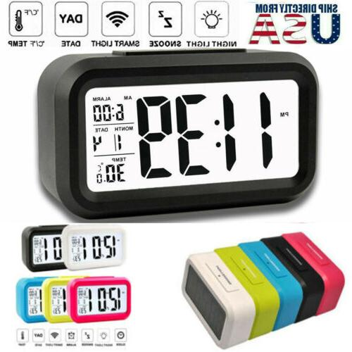 digital lcd snooze electronic alarm clock