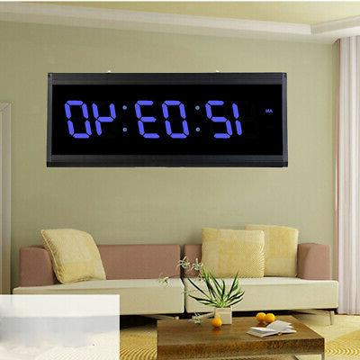 digital led night wall clock alarm watch