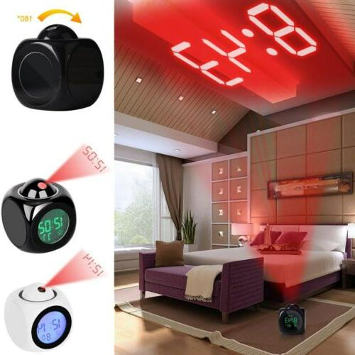 digital projection alarm clock with lcd display
