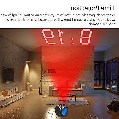 Digital Projection Clock With Talking