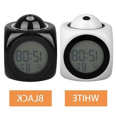 Digital Alarm Clock With LCD Display Talking Projector