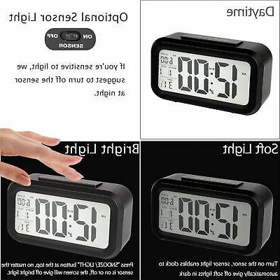Digital Snooze LED Alarm Clock Backlight Thermometer Temperature