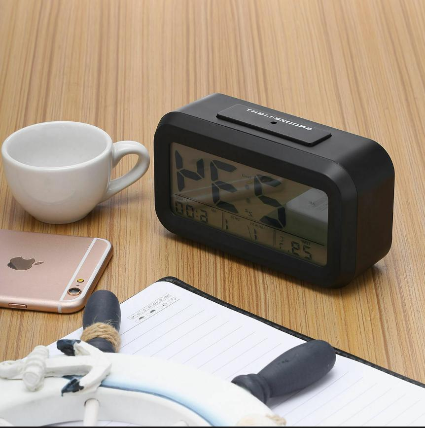 Digital LCD Clock Time Thermometer