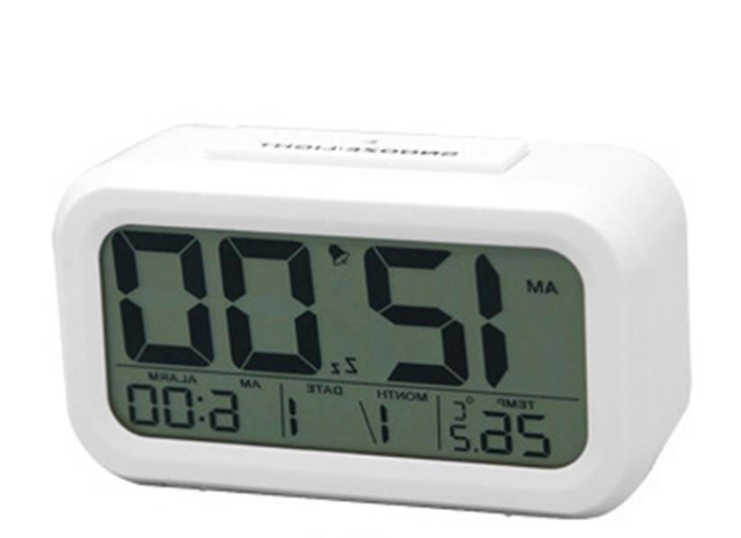 Digital Snooze LCD Alarm Clock Backlight Time Calendar Therm