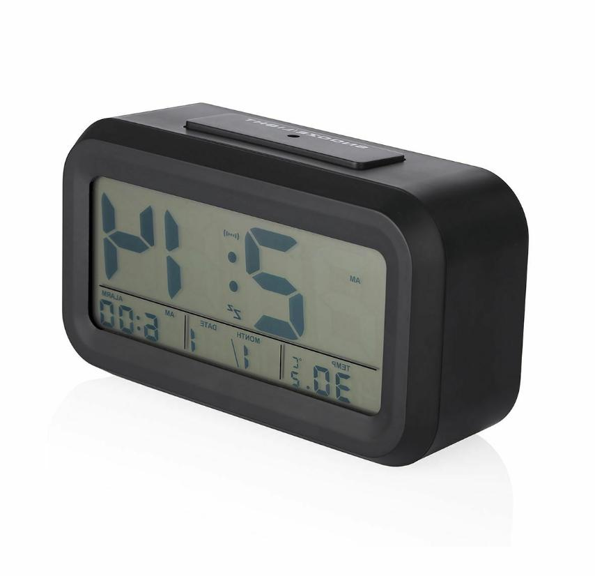 Digital Snooze LCD Clock Time Calendar Thermometer