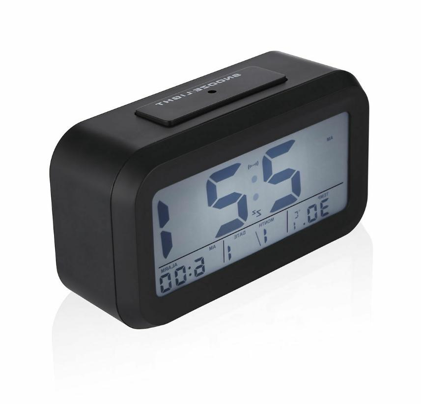 digital snooze lcd alarm clock backlight time