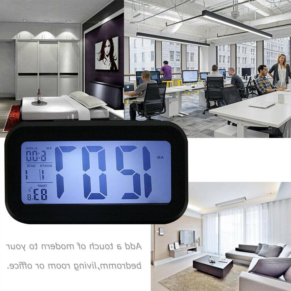 Digital Clock Snooze Back Light Calendar Thermometer Temperature