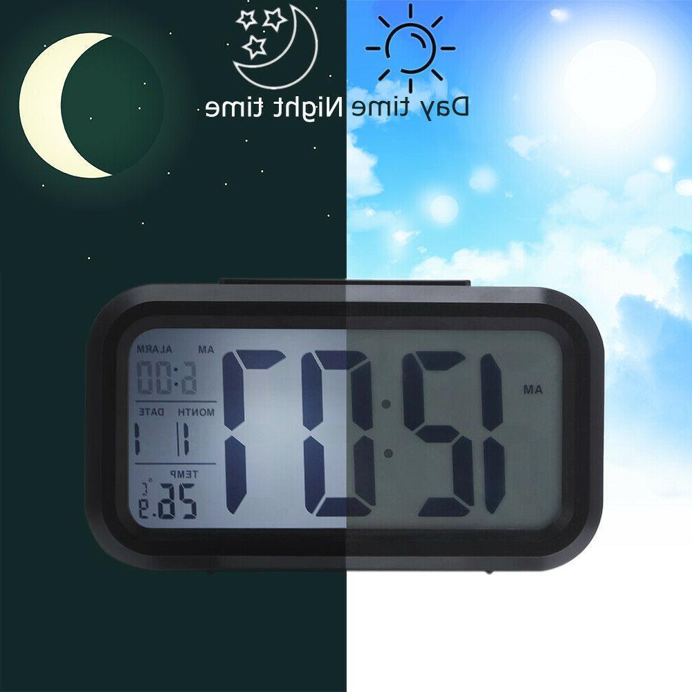 Digital Snooze Back Light Calendar Thermometer Temperature