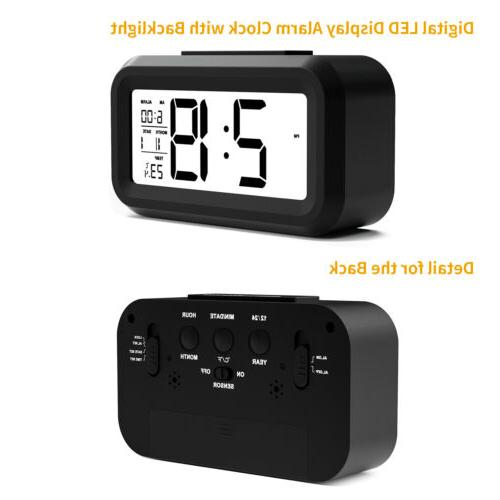 Digital Snooze Clock Time Temperature