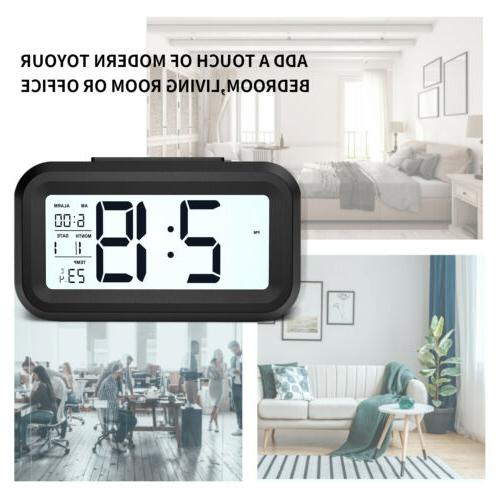 Digital Snooze Clock Backlight Temperature