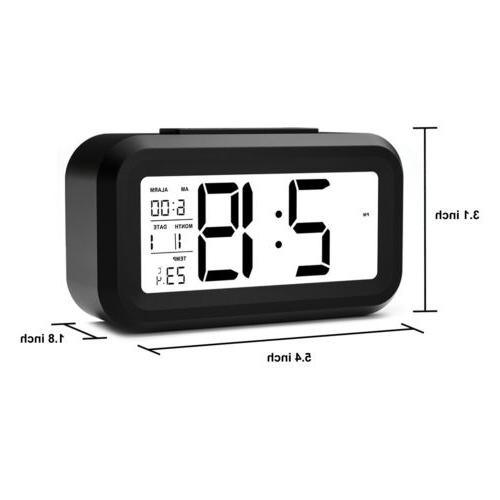 Digital LED Alarm Clock Backlight Time