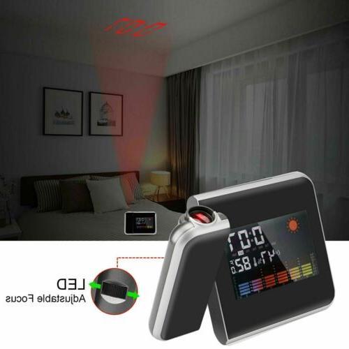 Digital Alarm Clock Weather LED Backlight