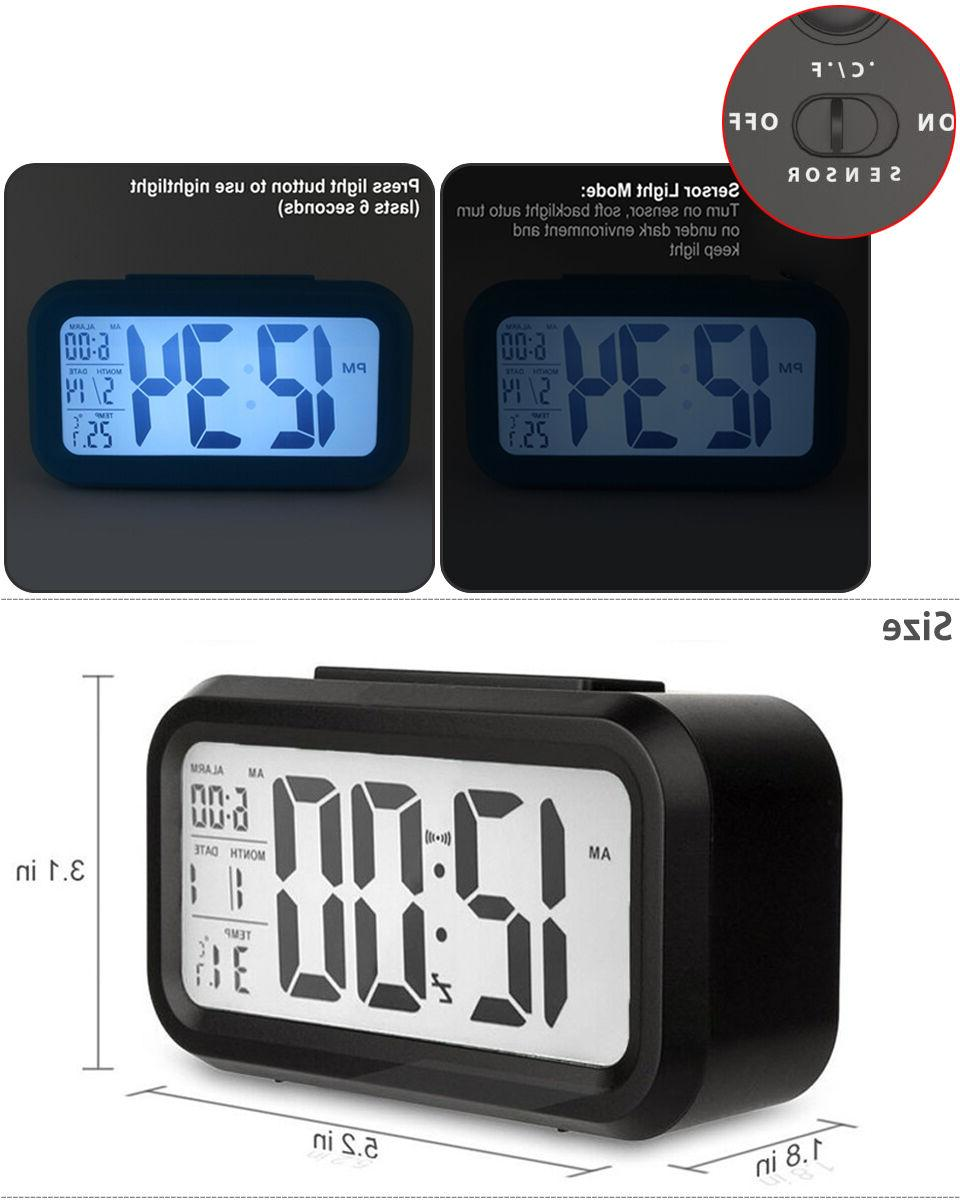 Digital Snooze LED Clock Thermometer Temperature